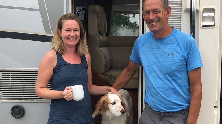 Cordelia and Biron Lewis are in France with their dog