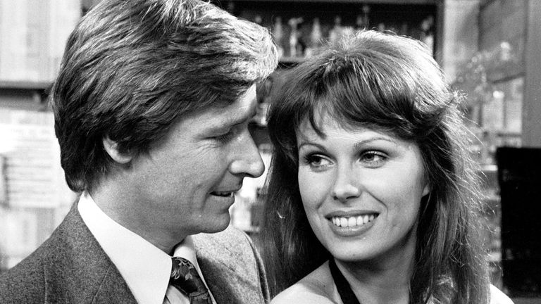 Joanna Lumley and Bill Roache in Coronation Street