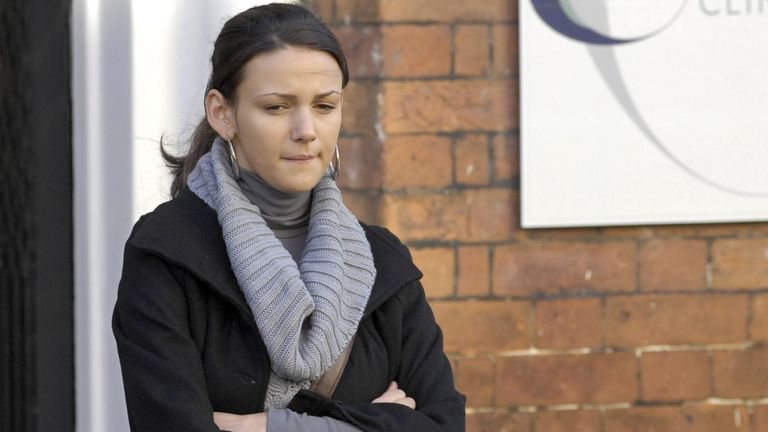 Tina McIntyre, played by Michelle Keegan, in Coronation Street