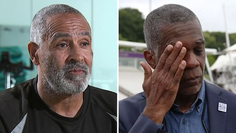 Daley Thompson (left) says passionate speeches by cricket legend Michael Holding helped him understand Black Lives Matter