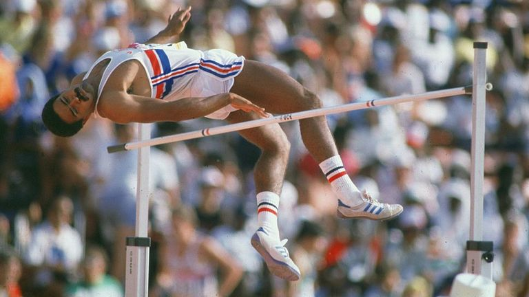Thompson competes in the LA Olympics in 1984