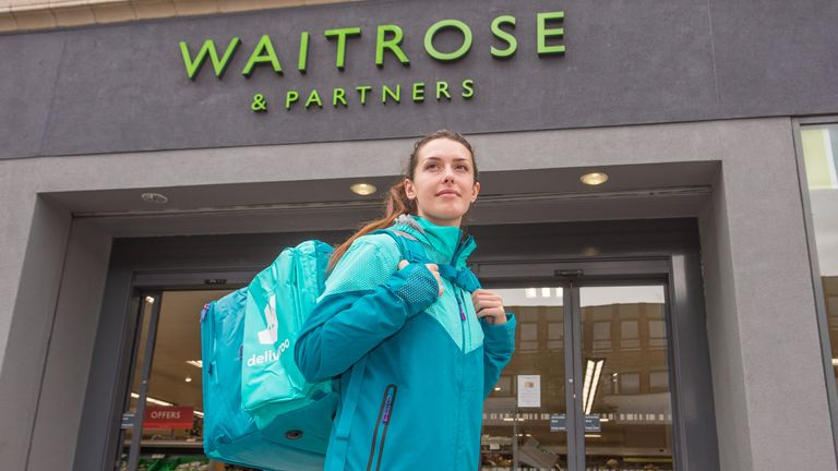 Waitrose products will be available on Deliveroo in some locations