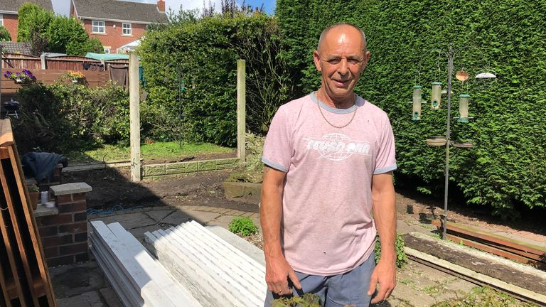 Steve Martland lives in Lancashire, meaning that he is still free to have guests round to his garden