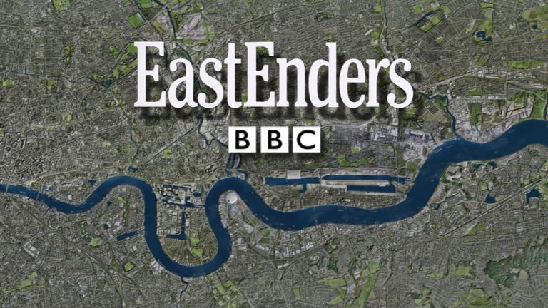 The iconic EastEnders credits overlooking the Thames will be back on our screens in just weeks. Pic: BBC