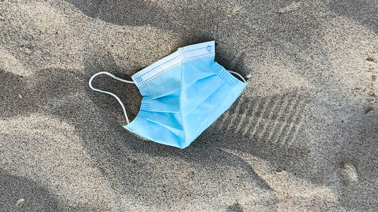 Waste Free Oceans says face masks could take up to 450 years to fully decompose
