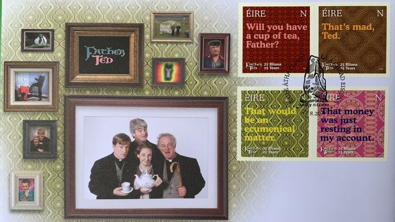 Father Ted 25th anniversary stamps