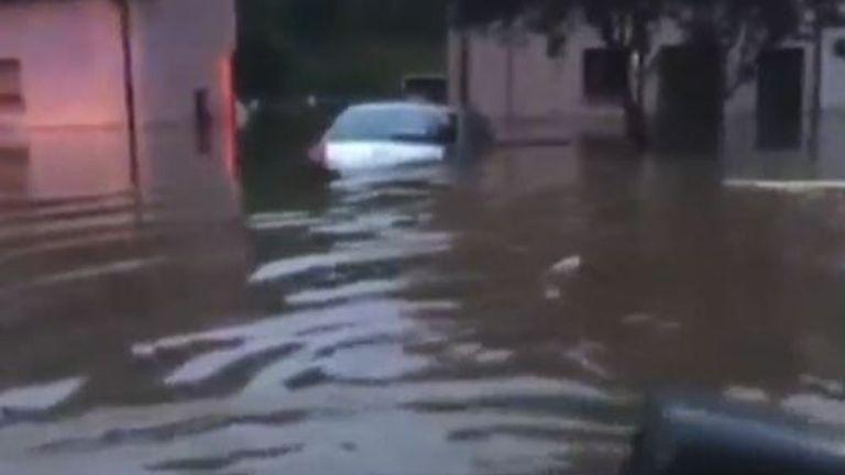 Heavy flooding hits parts of Scotland