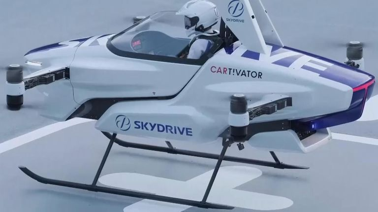 """Japan's SkyDrive Inc., is just one among the myriads of """"flying car"""" projects around the world.  Now it's carried out a successful test flight with one person aboard."""