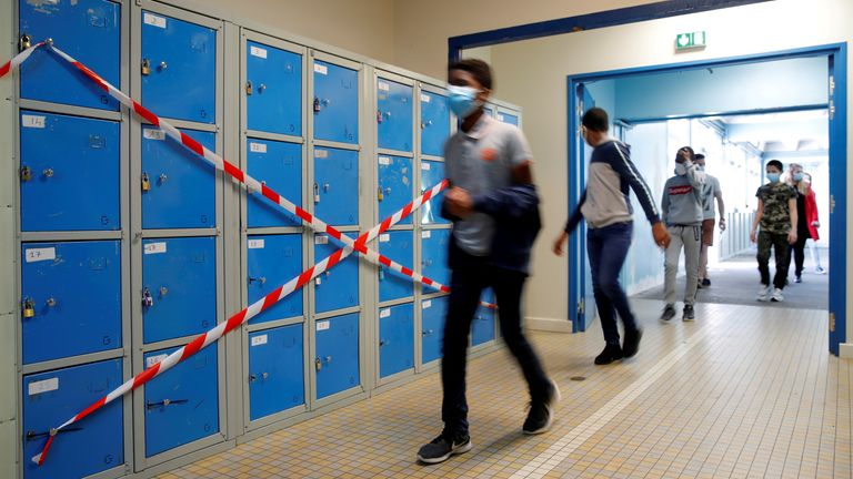 French college students return to school in Nantes
