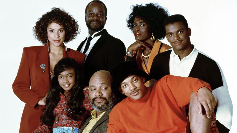 The original comedy starred Will Smith, bottom right, as a street-smart kid who moved in with his upper-class family