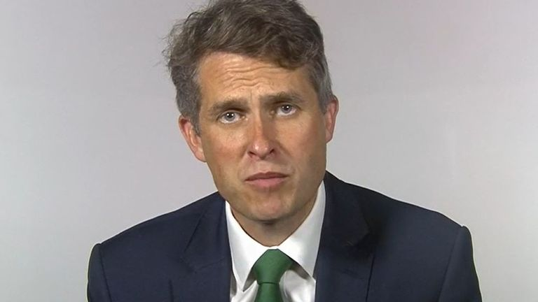 Gavin Williamson defends government's approach to grading students