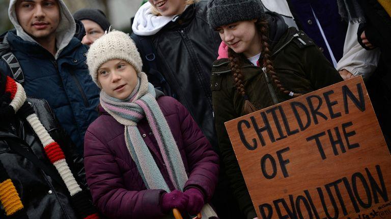 Swedish climate change activist Greta Thunberg
