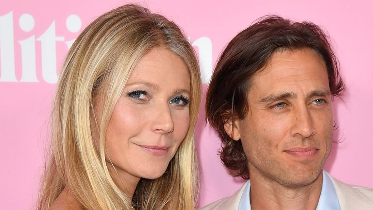 Gwyneth Paltrow with her husband Brad Falchuk