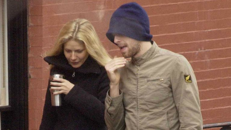 Gwyneth Paltrow and Chris Martin in February 2003