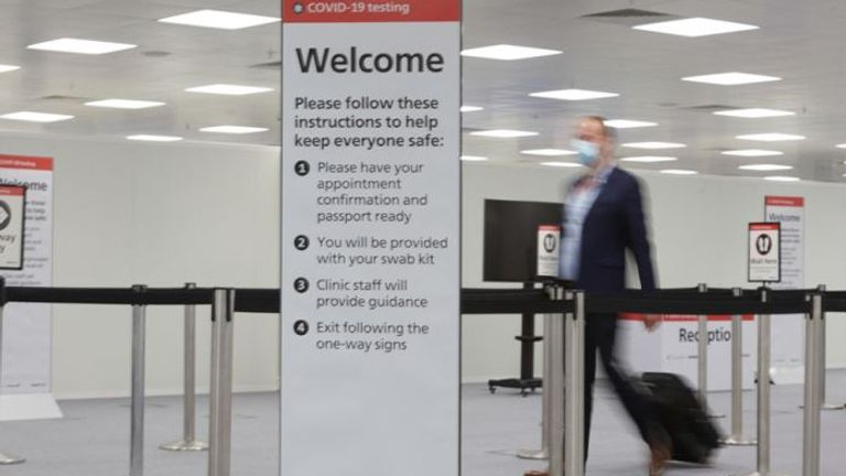 Heathow executives say a double-testing regime of passengers would help protect the economy. Pic: Heathrow Airport
