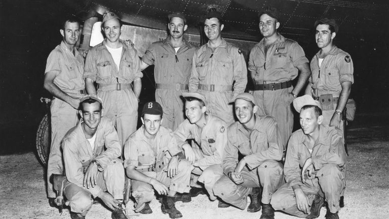 Colonel Paul Tibbets and the crew of the Enola Gay