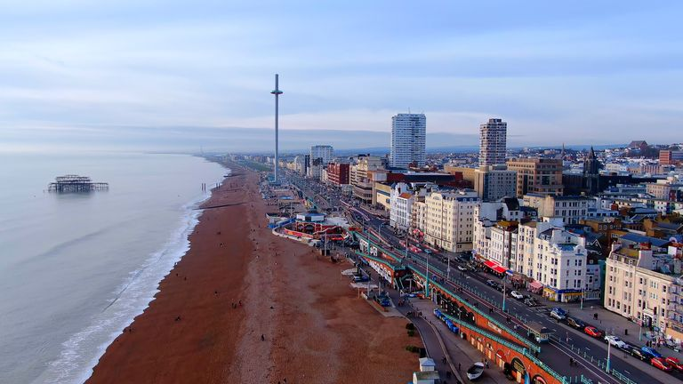 A body has been found on Hove beach after a kayaker was reported missing at the weekend. Pic: Stock image