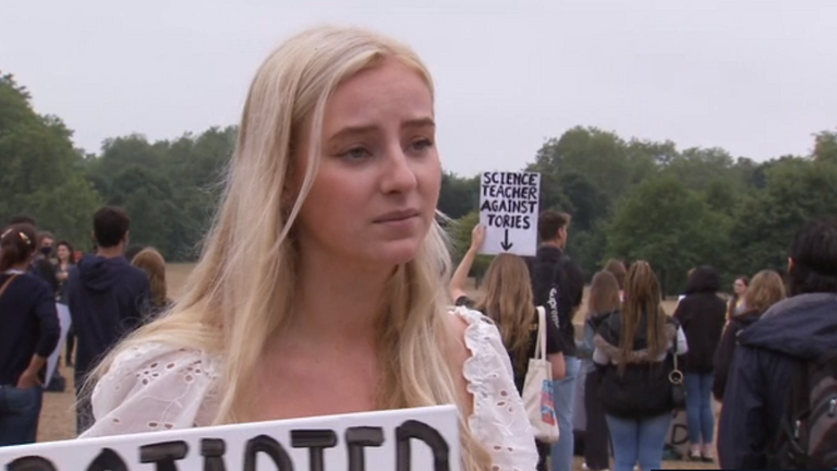 Ophelia Gregory organised the protest in Hyde Park on Saturday afternoon