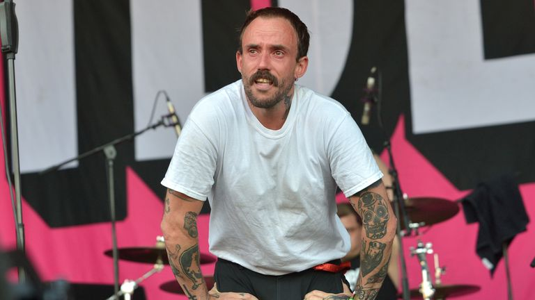 Idles' Joe Talbot was overcome with emotion on stage at Glastonbury in 2019