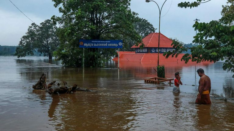 Much of Kerala is under water