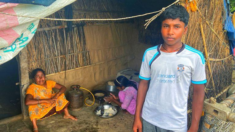One pupil at the Satyendra Pal Shakya free school