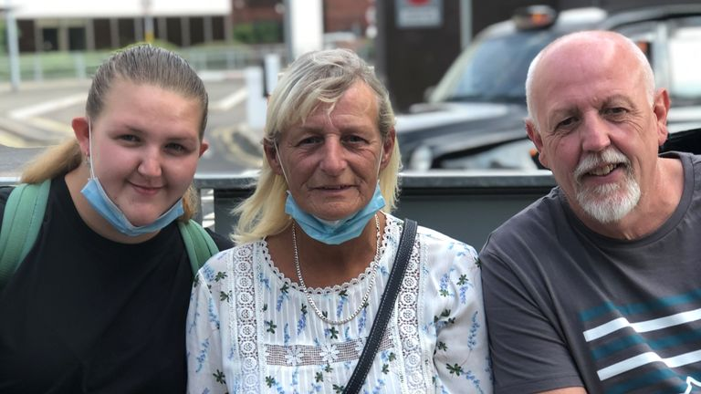 Sophie, 19, is seen with her parents Martin and Wendy