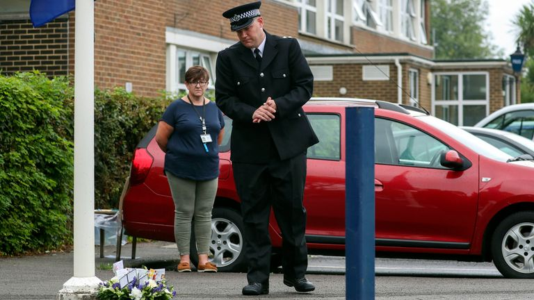 Inspector Al Hawkett was among those paying tribute in Newbury