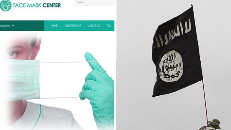 The fake PPE was sold through FaceMaskCenter.com, prosecutors say. Pic: DoJ