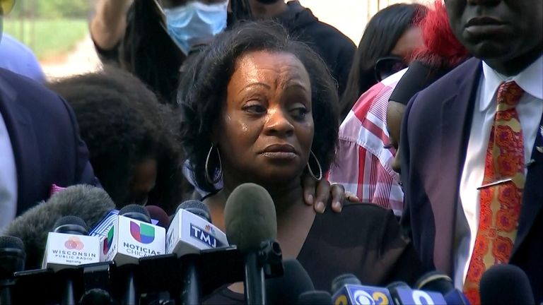 Julia Jackson, mother of Jacob Blake, gave a powerful speech calling for healing while condemning the recent violence