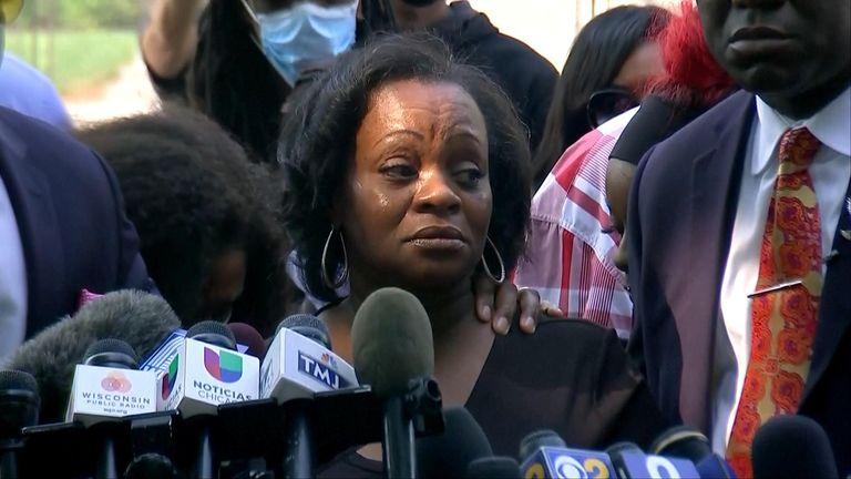 Julia Jackson, mother of Jacob Blake, gave a powerful speech calling for healing