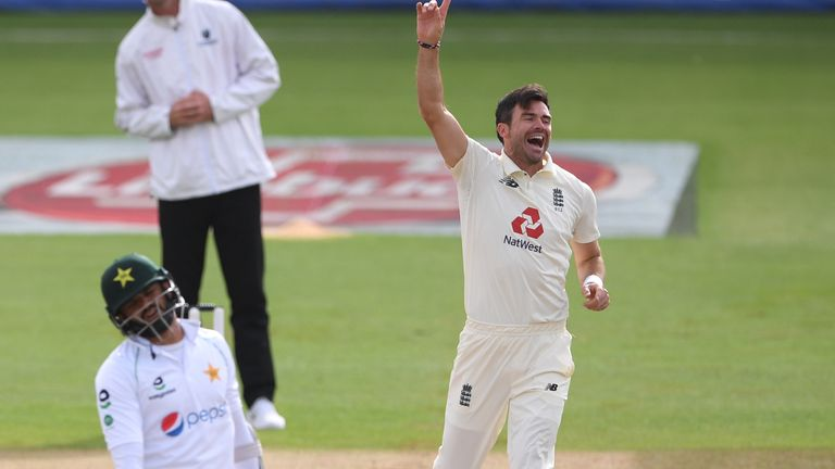 Anderson became only the fourth bowler to pass the milestone and the first who was not a spinner