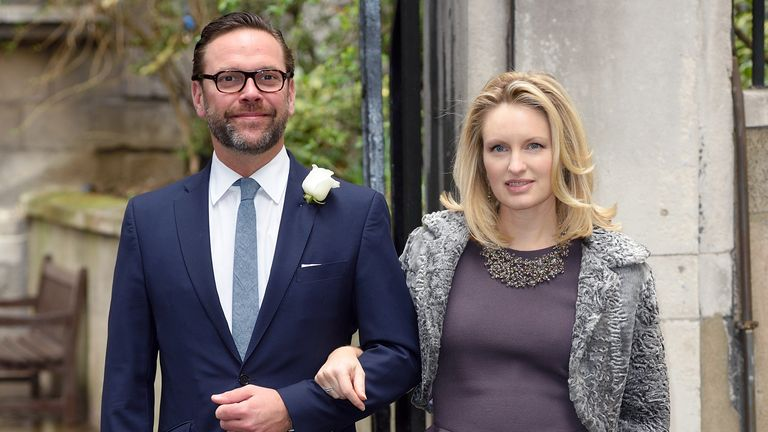 James Murdoch and his wife Katherine