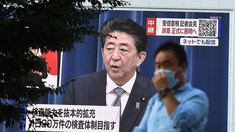 Japanese Prime Minister Shinzo Abe announces his resignation