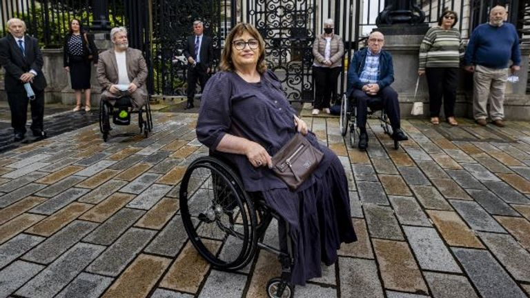 Jennifer McNern lost both legs in a bombing in 1972