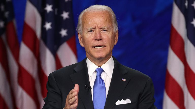 Joe Biden accepts party's nomination for president during virtual Democratic National Convention