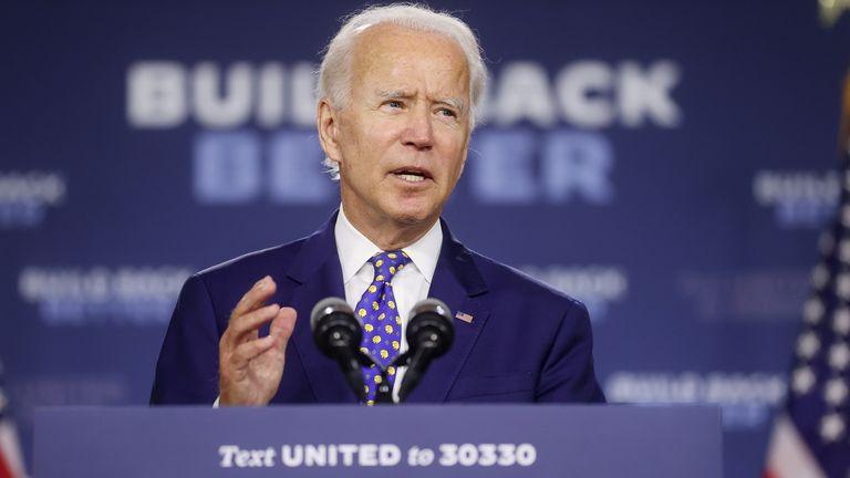 Joe Biden said Donald Trump's accusation that he is 'against God' is shameful