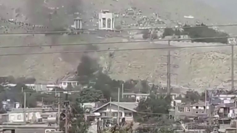 Rocket is launched into Kabul's diplomatic district