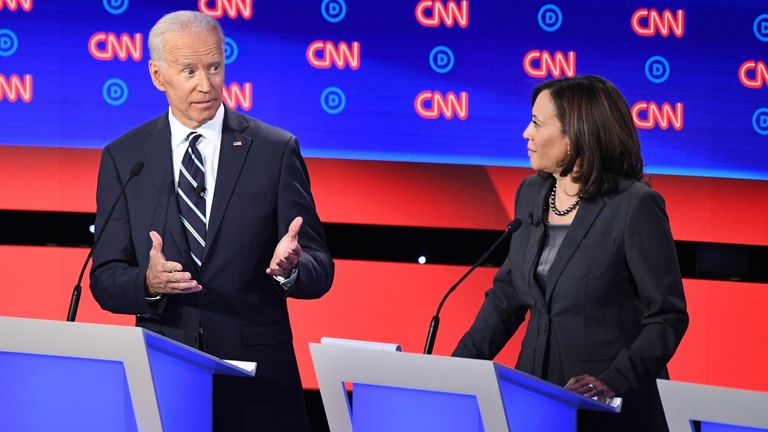 Kamala Harris clashes with Joe Biden