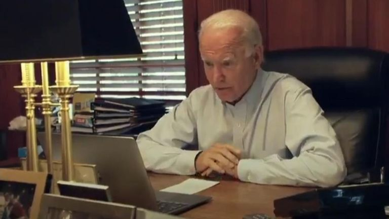 The Biden presidential campaign released a video showing the moment Kamala Harris was told by Joe Biden she was his vice-presidential pick
