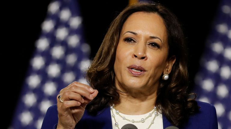 Kamala Harris criticised Donald Trump's record on the economy