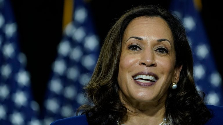 Democratic presidential candidate former Vice President Joe Biden's running mate is Senator Kamala Harris