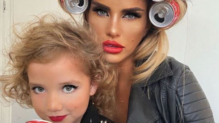 Katie Price posted this picture of herself and daughter Bunny on Instagram. Pic: @katieprice