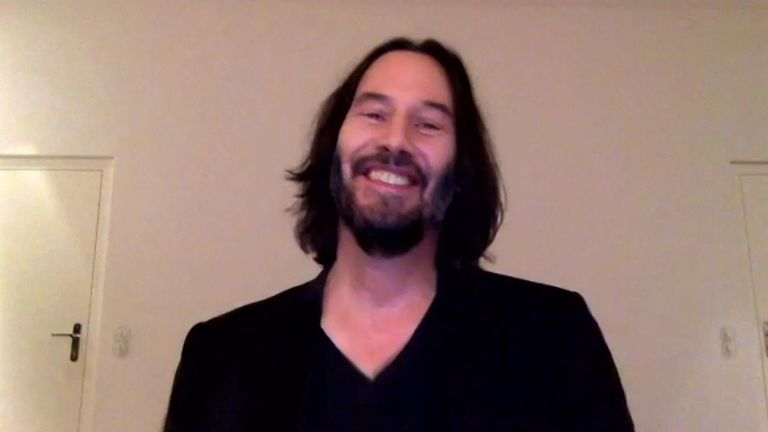 """Keanu Reeves returned to work this summer on the Berlin set of the fourth """"Matrix"""" movie."""