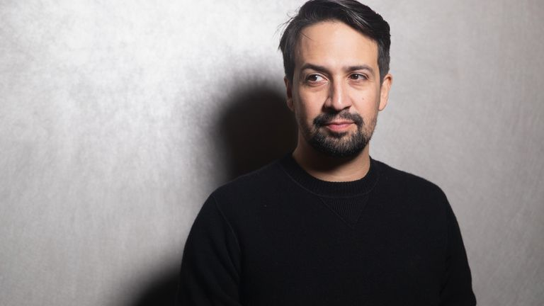 Lin-Manuel Miranda stars in the hit broadway show Hamilton