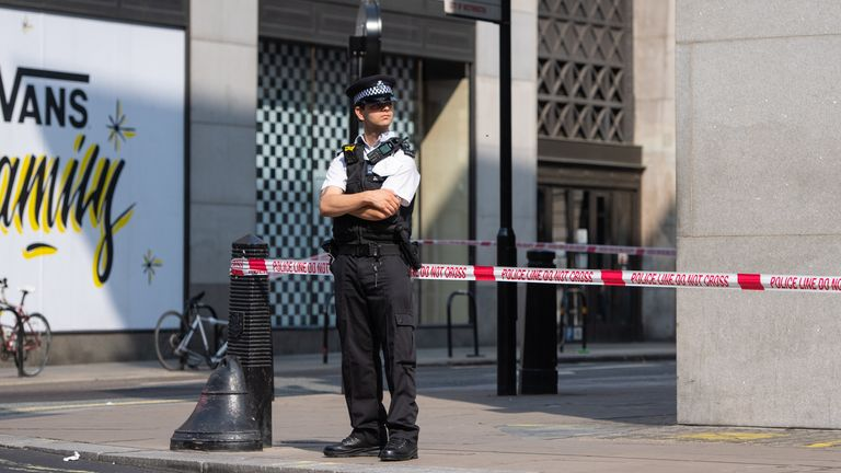 Police were called to reports of an assault on Market Place at the junction with Oxford Street