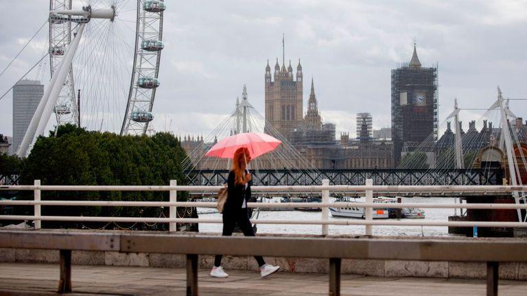 A quiet Waterloo Bridge in London