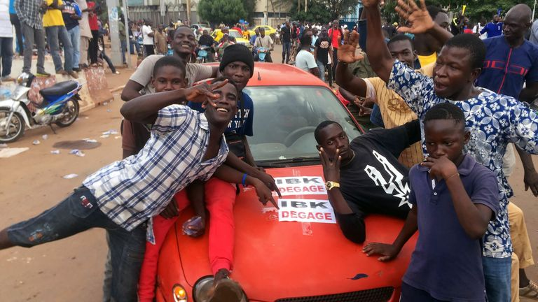 Opposition supporters reacted to the news of the arrests in Bamako