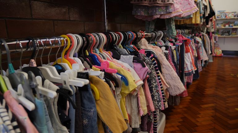 The charity is providing children with many items, including clothes