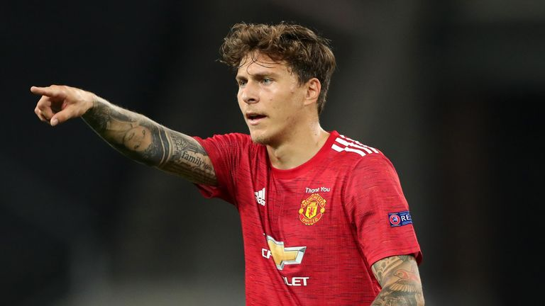Victor Lindelof of Manchester United during the UEFA Europa League Quarter Final between Manchester United and FC Kobenhavn