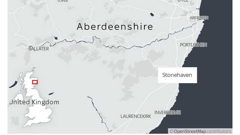 The ScotRail passenger train derailed near Stonehaven in Aberdeenshire